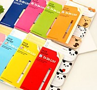 Cartoon Animal One by One Self Stick Note(Random Color)