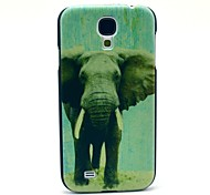 Grey Elephant Pattern Plastic Protective Back Cover for Samsung Galaxy S4 I9500
