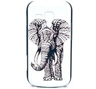 Elefante Patrón Alfombra Tribal caja dura para Samsung Galaxy Duos S7562 Tendencia