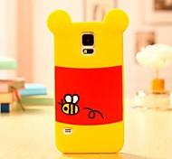 Caso 3D oso encantador Sombra de silicona para Samsung Galaxy i9600 S5
