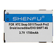 Shenfu 1700mAh batteria del cellulare per HTC Snap S511/Touch Pro2 Droid Incredible / EVO 4G SHIFT