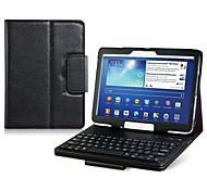 Faux Flip funda de cuero con el teclado incorporado de Bluetooth para Samsung Galaxy Note 10.1 P600 Tablet PC