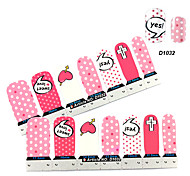 4x7PCS Cartoon Love Character Pattern Nail Art Stickers