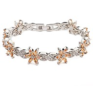 Moda multi-slice colorido de cristal Flor 8 Forma bracelete de diamantes CZ completa