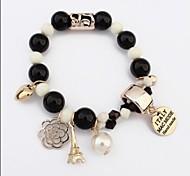 Мода упругой см Женская Смола браслет (черный, розовый и более) (1 шт)