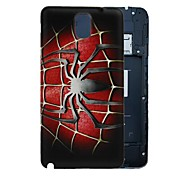 Spider dura del PC Battery Back Cover per Samsung Nota 3