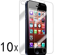 [10-Pack] anteriore e posteriore Retina Screen Protector per iPhone 5/5S