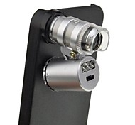 Mini 60X LED UV Light Pocket Microscope Jeweler Currency Magnifier with Back Case for iPhone 6 Plus