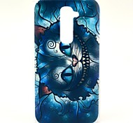 Retro Blue Cat Cartoon Pattern Hard Case for HTC G2/D801 Magic