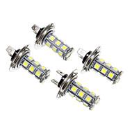 LED H7 18x5050SMD lumière blanche pour la voiture d'ampoule de lampe (12V, 4pcs)