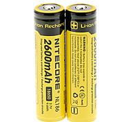 NITECORE NL186 2600mAh18650 batteria (2 pz)
