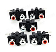 Dual-Channel Audio RCA Socket (5 PCS)