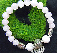 Natural Rose Quartz Bracelet turquoise blanc tempérament rose