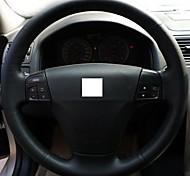 XuJi ™ Black Genuine Leather Steering Wheel Cover for Volvo S40