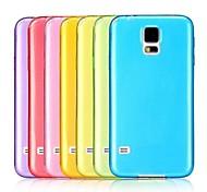 Ultra Slim Transparent Weiche TPU Tasche für Samsung Galaxy i9600 S5