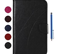 Contracted Style Car Line PU Leather Full Body Case and Capacitance Pen for Samsung Galaxy Tab 3 Lite T110/T111 (Assorted Colors)