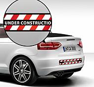 Under Construction Pattern Decorative Car Sticker