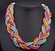 Women's  Woven Multi-colored Necklace