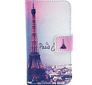 Iron Tower Design PU Full Body Case with Card Slot for iPhone 4/4S