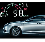 Car HUD Green LED Head Up Display with OBD2 Interface Plug  and Play Speeding Warn System
