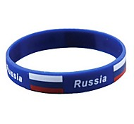 Russia Flag Pattern 2014 World Cup Silicone Wrist Band