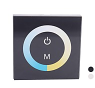 TM07 Touch Panel LED Farbtemperatur Dimmer Controller für reines / Warm White-LED-Streifen Black (DC12V-24V 8A 2-Kanal)