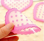 Heart Shaped Frosted Half Transparent Silicone Cup Mat Coaster