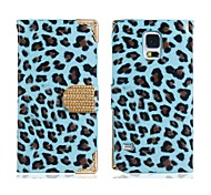 Leopard Print Faux Leather & Alloy Flip Case for Samsung Galaxy S5 I9600 (Assorted Colors)