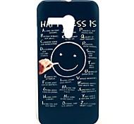 Negro Color de la cara de la sonrisa Felicidad Patrón de plástico duro caso para Motorala Moto T