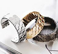 Fashion Squama Pattern Women's  Alloy Cuff Bracelet(Golden,Silver,Black)(1 Pc)