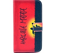 Hakuna Matata Pattern PU Leather Case with Money Holder Card Slot for Samsung Galaxy S3 I9300