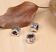 Eruner®9MM Vintage Alloy Heart DIY Beads For Necklace or Bracelet(10PCS)