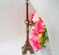 Vintage Bronze Tour Eiffel Forme cuir Porte-clés (1 PC)