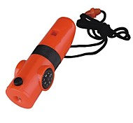 Survival Whistle Hiking Multi Function / Whistle Plastic Orange