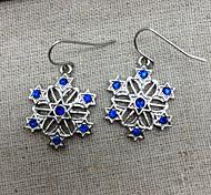 Frozen Elsa Queen Shining Stars Blue Gemstone Earrings Cosplay Accessory