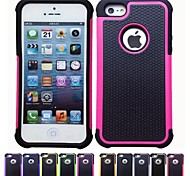Football Grain Design PC and Silicone Case for iPhone 5/5S (Assorted Colors)