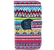 Hakuna Matata Pattern PU Leather Case with Card Holder and Stand for Samsung Galaxy I8160