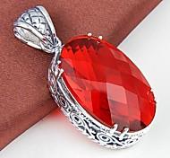 Ovale quartz vert rouge Quartz Améthyste pierre gemme d'argent pendant 1 pc