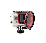 2014 New Arrival camera accessories 58mm Flip Converter for Gopro 3 Housing - Red