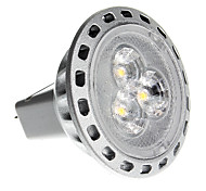 2W GU4(MR11) LED Spotlight MR11 3 SMD 2835 180 lm Warm White DC 12 / AC 12 V