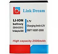 Ligação Sonho de alta qualidade 3.7V 2500mAh da bateria do telefone celular para Samsung Galaxy Ace S5830 (EB494358VU)