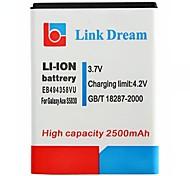Enlace Dream High Quality 3.7V 2500mAh de la batería del teléfono celular para Samsung S5830 Galaxy Ace (EB494358VU)