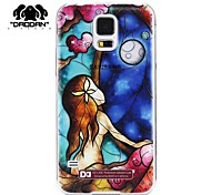 DAODAN®3D Carving Case Relief  Mermaid Pattern Hard Case for Samsung Galaxy S5