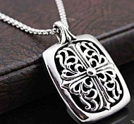 Z&X®  Fashion Crow Heart Tags Titanium Steel Pendant Necklace