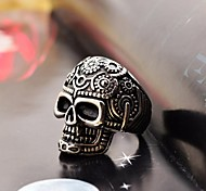 Fashion Pattern Skull  Men's Stainless Steel Ring