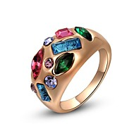 Gorgeous Fashion Jewelry  Gold plated with Crystal Rings (one piece)