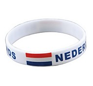 Netherlands Flag Pattern 2014 World Cup Silicone Wrist Band