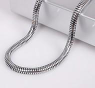 Eruner®Unisex 4MM Snake Chain Silver Chain Necklace NO.71