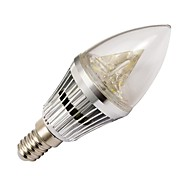 4W E14 Luces LED en Vela 3 LED de Alta Potencia 210-240 lm Blanco Cálido Regulable AC 100-240 V