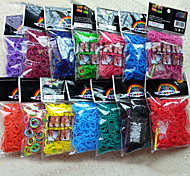 Rainbow Colorful Loom Weave Rubber Band Bracelet Bag(600 Pcs Bands+24 Pcs C Or S Clips+1 Hook)